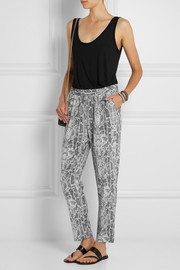 Equipment Hadley printed silk tapered pants