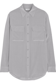 Equipment Signature Super Vintage washed-silk shirt