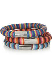 Missoni + V&A set of three palladium-plated woven bracelets