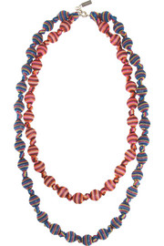 + V&A double-strand woven necklace