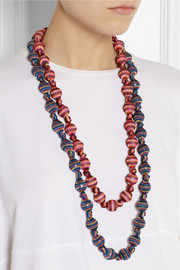 Missoni + V&A double-strand woven necklace