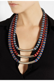 Missoni + V&A set of three palladium-plated woven necklaces