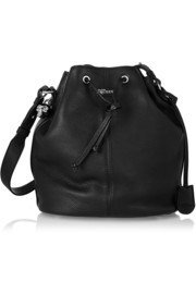 Alexander McQueen Padlock Secchiello leather shoulder bag