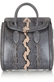 Alexander McQueen The Heroine medium python tote
