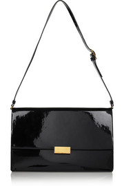 Stella McCartney Beckett faux patent-leather shoulder bag