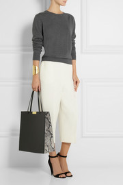 Stella McCartney Beckett large faux leather and faux python tote