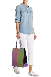 Stella McCartney Beckett holographic faux leather tote