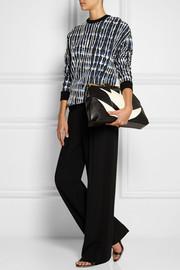 Stella McCartney Two-tone faux leather clutch