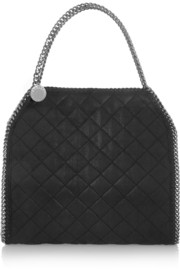 Stella McCartney The Falabella quilted faux brushed-leather shoulder bag