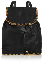 Stella McCartney The Falabella faux brushed-leather backpack