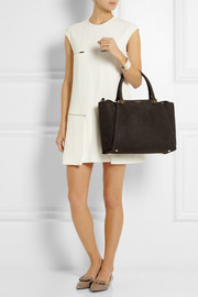 Lanvin Trilogy croc-effect nubuck shopper