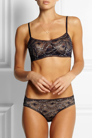 Eres Allegorie Litote metallic lace and stretch-jersey briefs