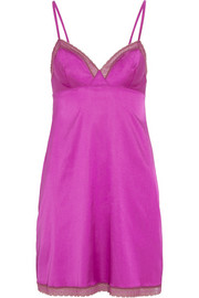 Fantasme Obsession stretch silk-blend satin chemise