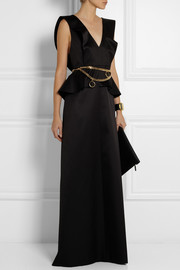 Chloé Wool and silk-blend satin gown