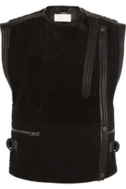 Chloé Shearling and wool-blend gilet