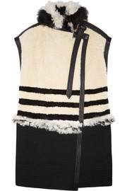 Chloé Leather-trimmed shearling vest