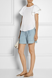 Chloé Ruffled cotton T-shirt