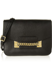 Sophie Hulme Envelope chain-trimmed textured-leather shoulder bag