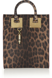 Sophie Hulme Mini leopard-print leather tote