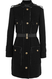 Lanvin Belted wool and cotton-blend coat