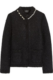 Lanvin Embellished metallic bouclé jacket
