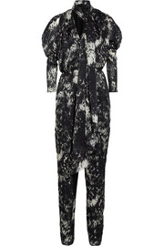 Lanvin Printed silk-georgette jumpsuit