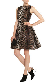 Lanvin Leopard-jacquard mini dress