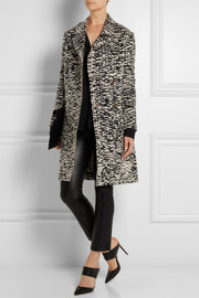 Lanvin Brushed cotton-blend jacquard coat