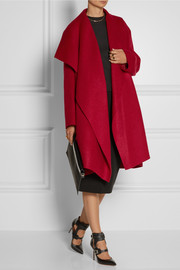 Lanvin Oversized wool and mohair-blend blanket coat