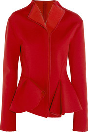 Stretch-scuba jersey peplum jacket
