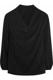 Lanvin Draped stretch-crepe top