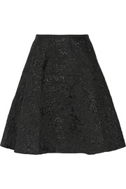 Lanvin Metallic wool-blend jacquard skirt