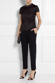 Lanvin Crystal-embellished quilted satin top