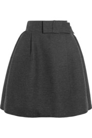 Lanvin Wool-blend grosgrain skirt
