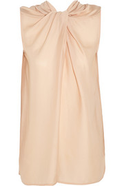 Lanvin Twist-front crepe top