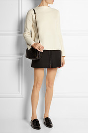 Jérôme Dreyfuss Bobi textured-leather and suede shoulder bag