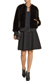 Neil Barrett Faux fur bomber jacket