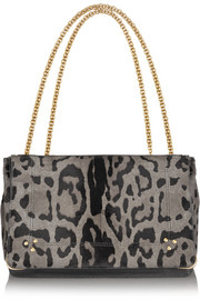 Jérôme Dreyfuss Martin leopard-print calf hair shoulder bag