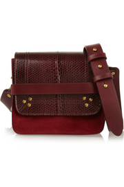 Jérôme Dreyfuss Nicolas watersnake, suede and leather shoulder bag