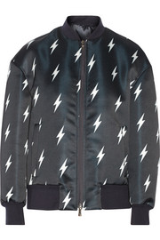 Neil Barrett Printed tech-jersey bomber jacket