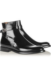 Merthyr glossed-leather ankle boots