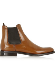 Monmouth glossed-leather Chelsea boots