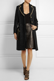 Moschino Chain-trimmed wool-blend bouclé coat