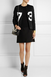 Moschino Appliquéd quilted twill jacket