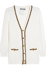 Moschino Chain-embellished wool cardigan