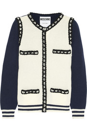 Moschino Wool and cashmere-blend cardigan