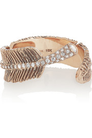 Daniela Villegas Wind 18-karat rose gold diamond ring