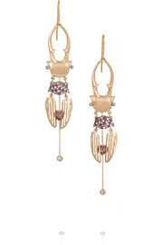 Daniela Villegas The Waltz 18-karat rose gold multi-stone earrings