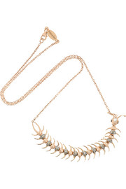 Daniela Villegas Centipede Queen 18-karat rose gold diamond necklace