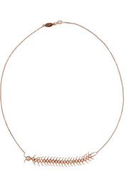 Daniela Villegas Centipede 18-karat rose gold, diamond and tsavorite necklace